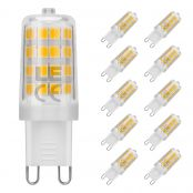 Pack of 5 Units, 5W 340lm Bulb, G9 LED Bulb, 50W Halogen Lamp Equicalent, Warm White