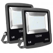 150W Outdoor LED Flood Light, 12000 Lumen Security Lights, 400W HPS floodlight Equivalent, Waterproof IP65 Garden Light, 5000K Daylight White Floodlight, Wall Washer, Pack of 2 Units (LED Light Fixture