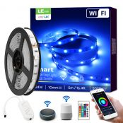 2 Pack 5M Smart RGB LED Strips Lights, Wifi LED Strips, Work with Alexa and Google Home
