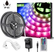 LE 10M LED Strips Lights, IP65 Waterproof, Dimmable, RGB Colour Changing Rope Light, for Indoor and Outdoor Decoration [Energy Class A+]