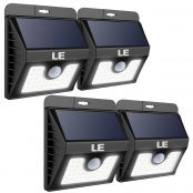 30 LEDs Solar Wall Light 4 Pack Light on