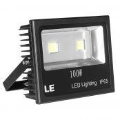 100W LED Floodlight, 2-Year Warranty, 10150lm Stadium Light, 250W HPS Equivalent, Daylight White Flood Light Fixture