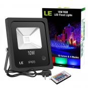 10W RGB LED Flood Light, Dimmable, 16 Colours & 4 Modes