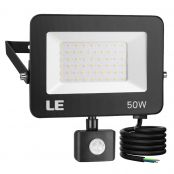 50W Motion Sensor LED Security Light, Outdoor Flood Lights, Daylight White, 150W MH Equivalent