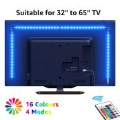LE TV Backlights, 2M USB LED Light Strip with RF Remote, Dimmable RGB Mood Lights, SMD 5050 Bias Lighting for 32-65¡± TVs, Computer, Gaming Monitor and More (4 x 50cm)