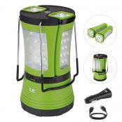 600lm Rechargeable Camp Lantern LED with 2 Detachable Mini Handy Flashlight Torch