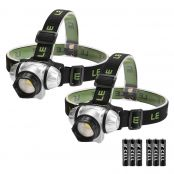 2 Pack LED Headlamp Headlight