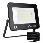 LE 50W Led Floodlight Outdoor, 5000LM LED Security Lights, 350W Incandescent Lamp Equivalent, Waterproof IP65, Daylight White Outdoor Lights for Warehouse, Playground, Backyard and More [Energy Class A++]