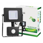 10W Floodlight with Light sensor and Passive sensor, 800lm Light sensor Flood Lights, 100W Halogen Equivalent, Daylight White, Waterproof LED Security Lights