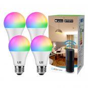 WiFi Smart Bulb E27 RGBCW, Work with Alexa (Echo, Echo Dot), Google Home and IFTTT,