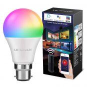 LampUX WiFi Smart Bulb Bayonet B22 RGBW
