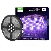 2 Pack 5M Waterproof Smart RGB LED Strips Lights, Wifi LED Strips, Work with Alexa and Google Home