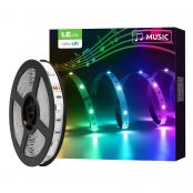 2 Pack 5M Music Sync RGB LED Strip Lights, Smart, Wifi, Work with Alexa and Google