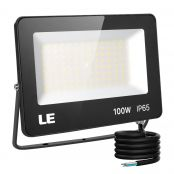 100W Outdoor LED Flood Light, 10000lm Super Bright, 250W Metal Halide Equivalent, Waterproof 5000K Daylight White Commercial Security Lighting for Yard, Garden, Driveway, Pool, Parking Area, Playground