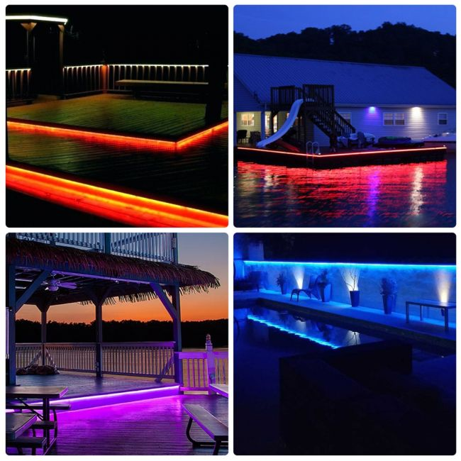 Le 25m Mains Led Strip With Remote Rgb 1500 Smd 5050 Leds Ip65 Waterproof Colour Changing Dimmable Outdoor Rope Light