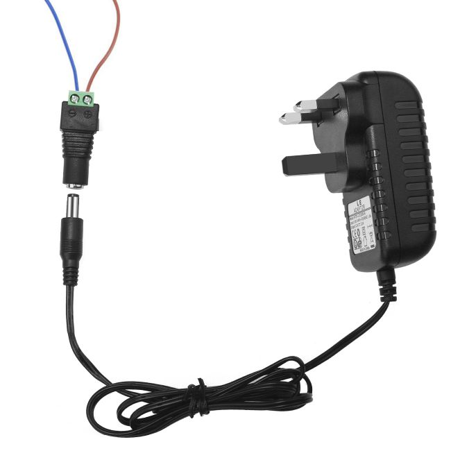 US Plug Power Converter for LED Strip Light and More LE Power Adapter 24W Switching Power Supply AC 100-240V to DC 12V Transformer 2A