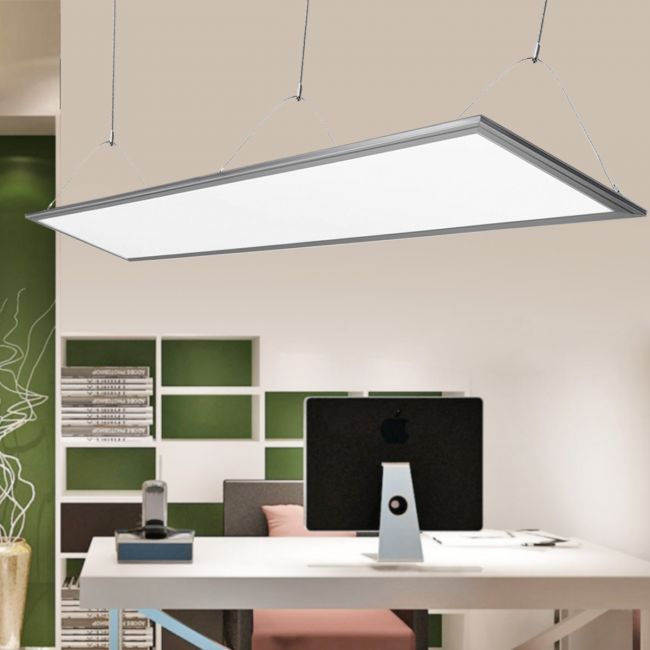 Le Led Panel Light 40w 1200 X 300 Tile 4000lm Neutral White 4000k Slim Ceiling Light For Home Office Kitchen And More Led Driver And Hanging Kit