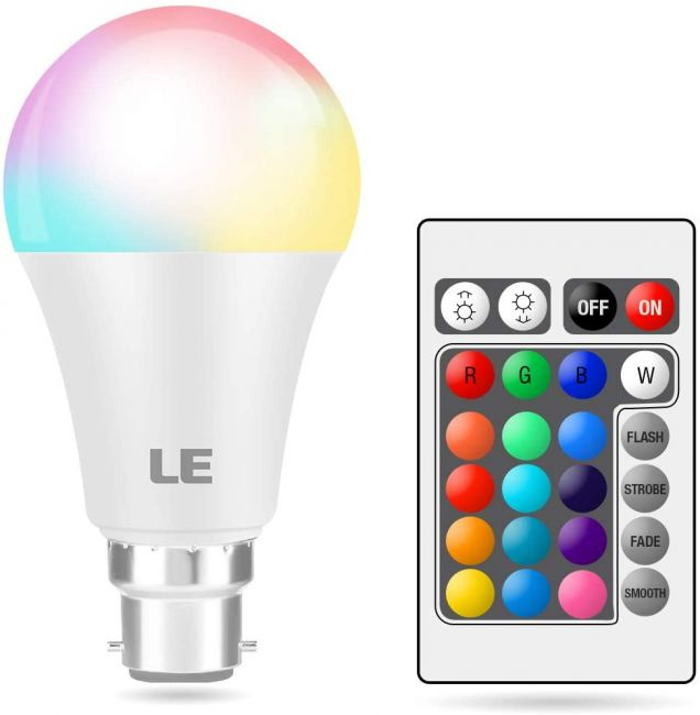 Coloured LED Light Bulbs B22 Bayonet