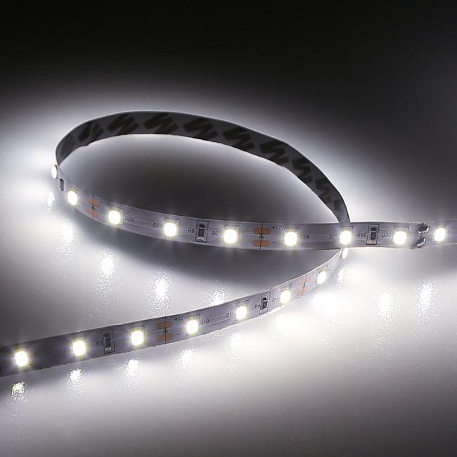 Le Led Strips Lights 10 Metre Daylight White 6000k 12v Led Tape Non Waterproof Bright Light Strip For Home Cinema Kitchen Cabinet Bedroom Or
