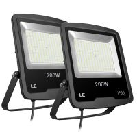 Pack of 2 Units, 200W LED Floodlight 16000lm, 189 LEDs Outdoor LED Flood Lights, CE, RoHS Approved, 5000K Daylight White Outdoor LED Lighting, 2 Years Warranty, Free Delivery (LED Light Fixture)