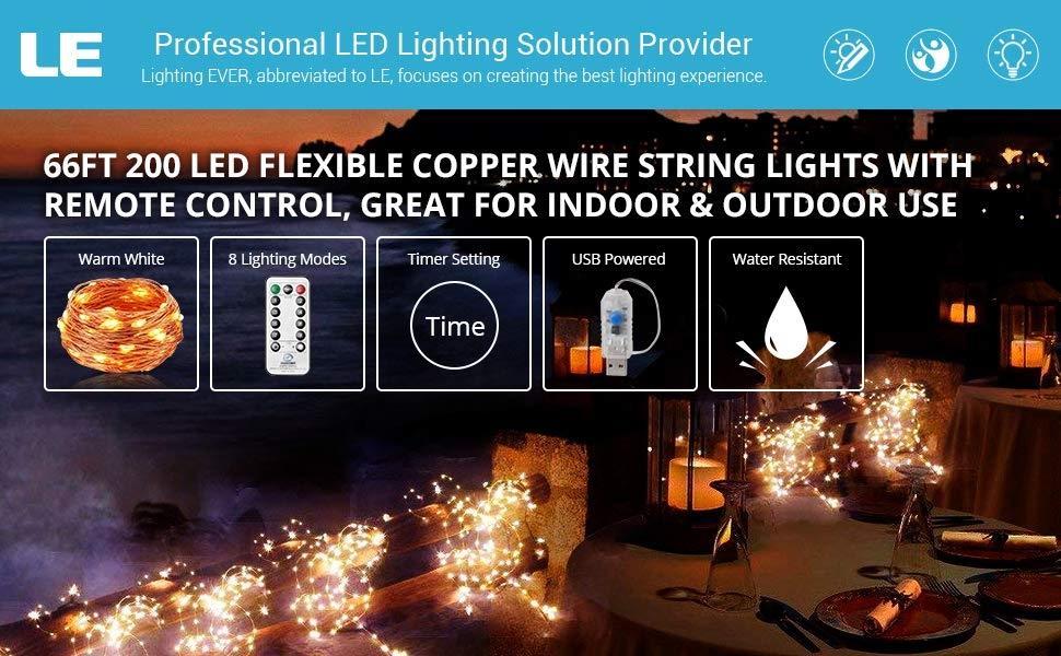 66ft 200 LED USB Powered Fairy String Light