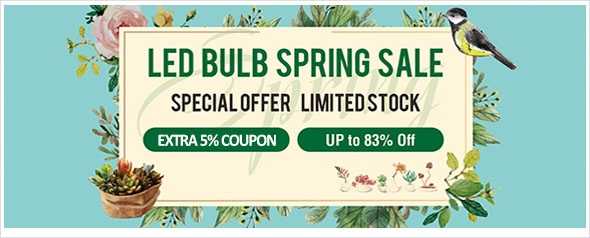 LED BULB SPRING SALE! Up to 78% off all LED bulbs
