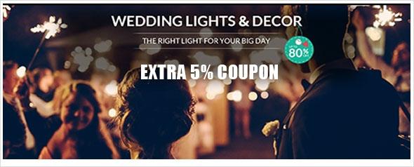 LED WEDDING LIGHTS & DECOR, Up to 80% off + extra 5% off