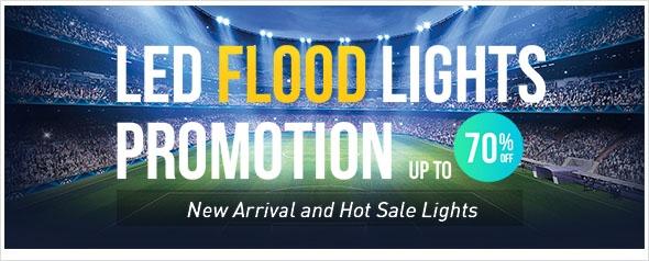 LED Flood  Lights Promotion, up to 70% off, enjoy extra 5% coupon