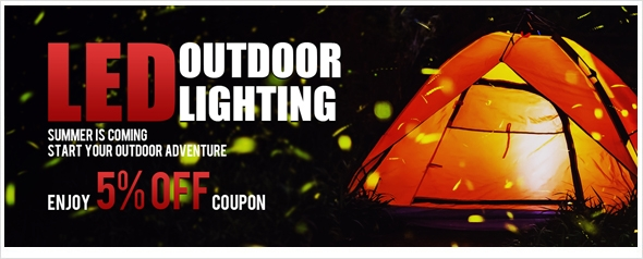 LED outdoor lights enjoy extra 5% off coupon, shop now