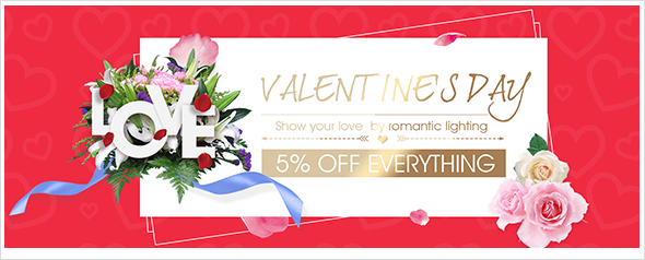 Romantic lighting for Valentine's day, extra 5% off everything