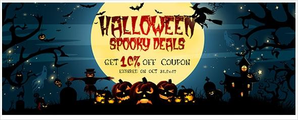 Halloween sale! Up to 10% extra coupon for LED flood lights, strip lights, etc